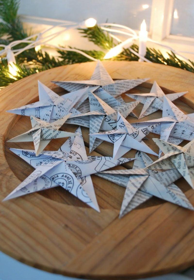 Basteln mit Zeitungspapier Sterne falten