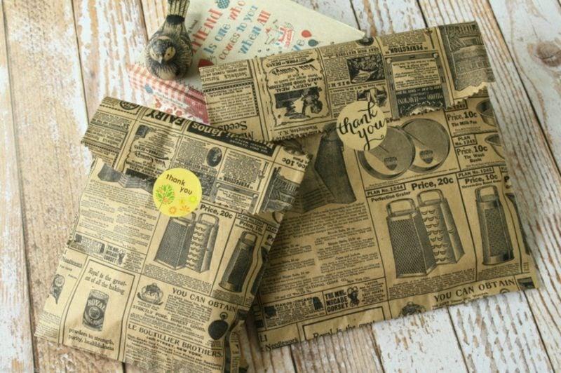 Basteln mit Zeitungspapier herrliche Tüten Geschenke