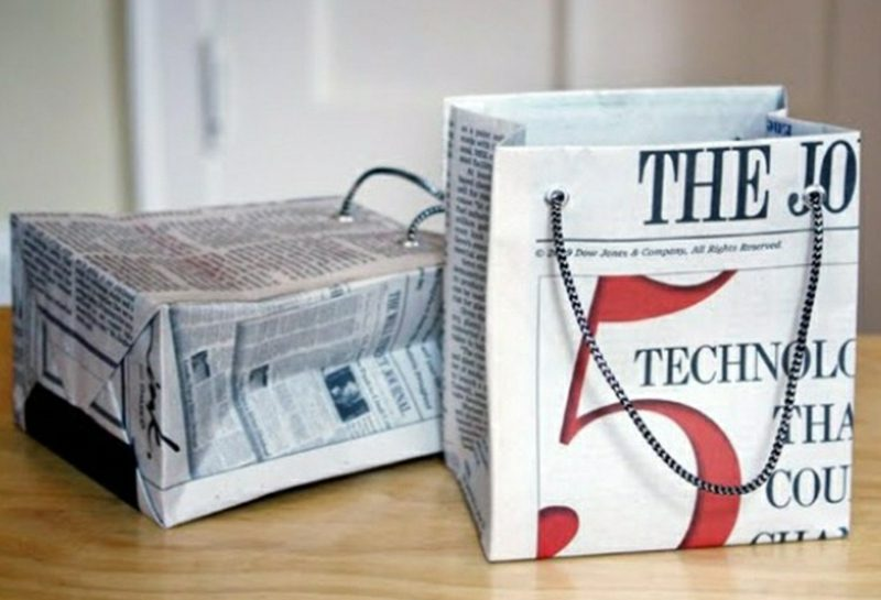Basteln mit Zeitungspapier Tüten selber machen