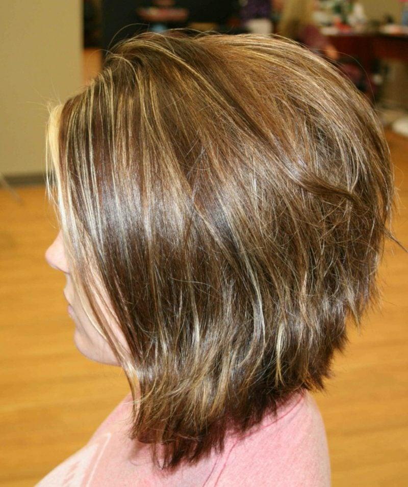 kurzer Bob A Linie dickes Haar
