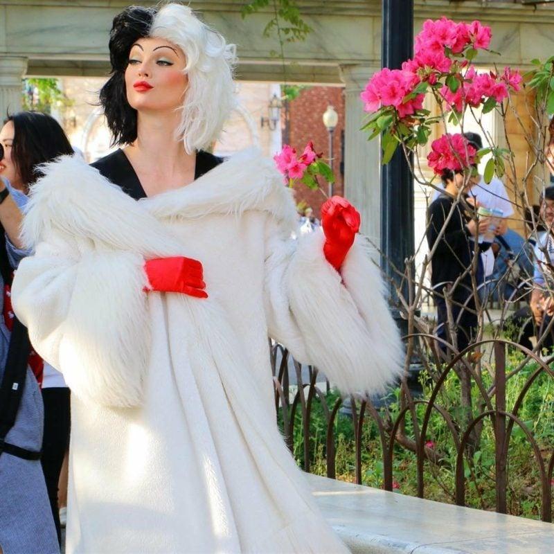 Cruella De Vil Kostüm eindrucksvoll Perücke