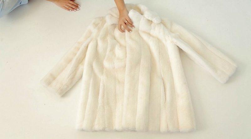 Cruella De Vil Kostüm der typische weisse Mantel