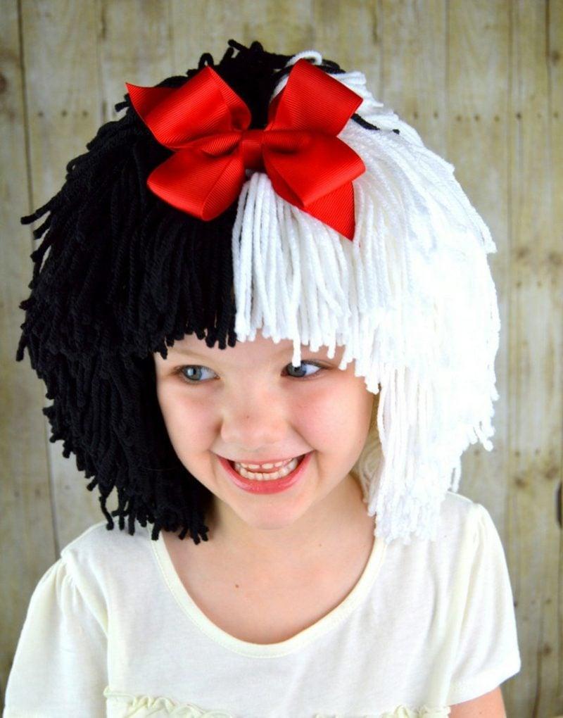 Cruella De Vil Kostüm lustige Perücke aus Garn