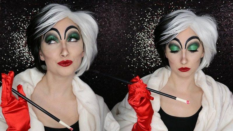 Cruella De Vil Kostüm Make up selber machen
