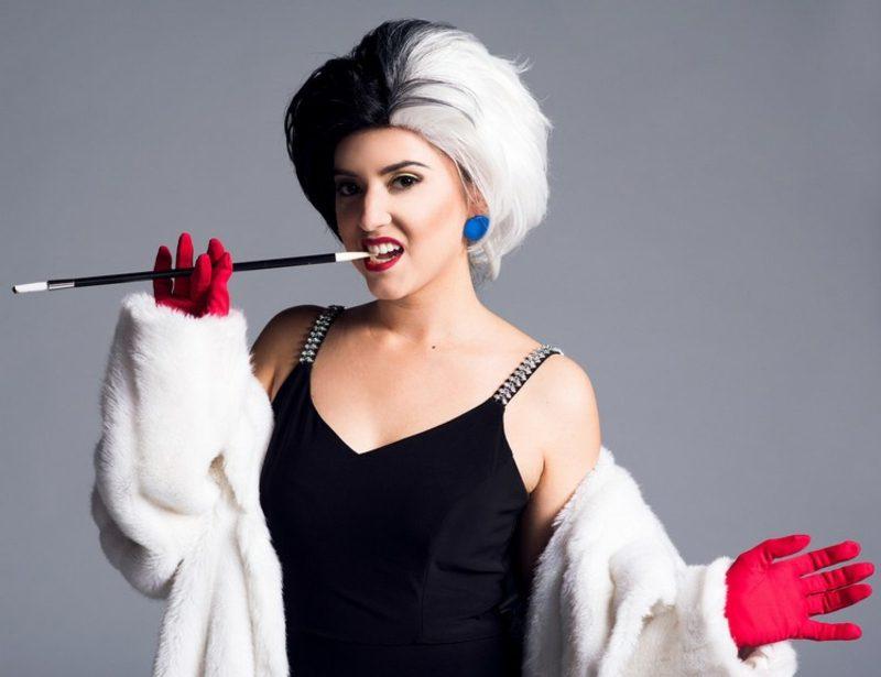 Cruella De Vil Kostüm stilvoll Retro-Zigarettenhalter