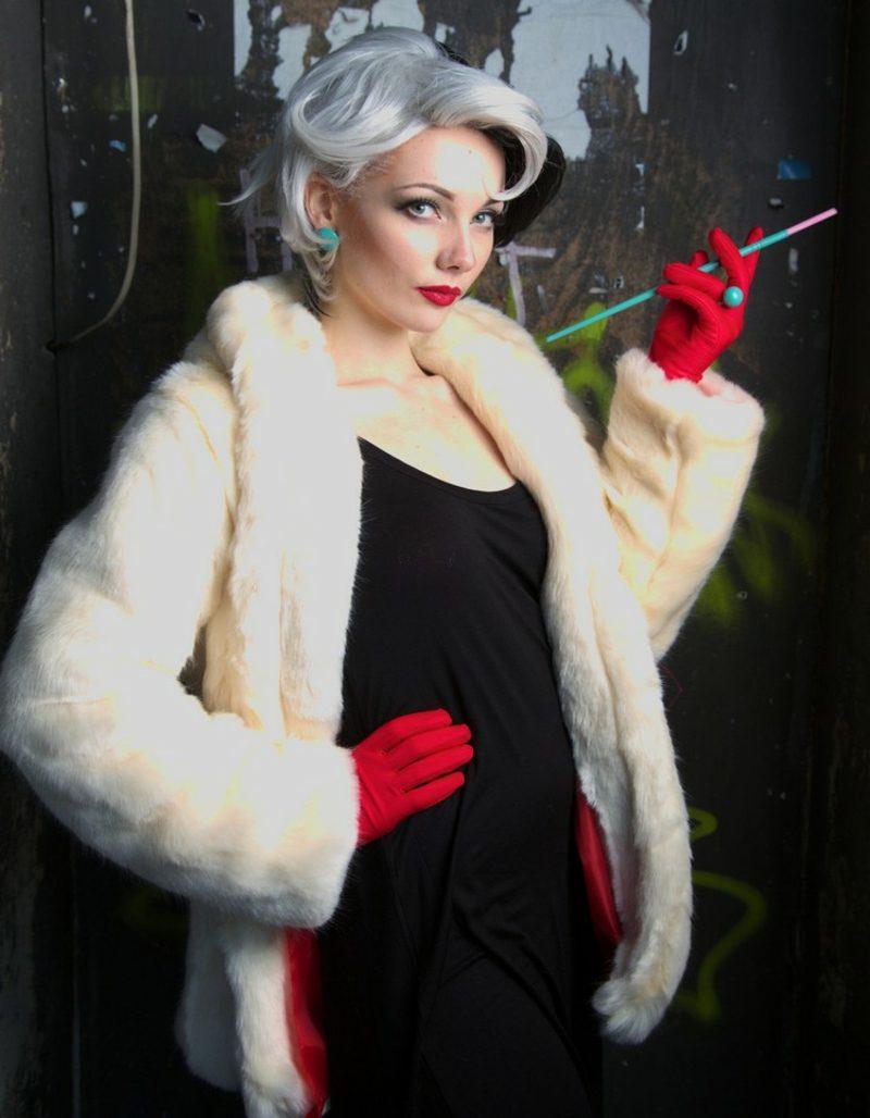 Cruella De Vil Kostüm elegant Retro-Zigarettenhalter