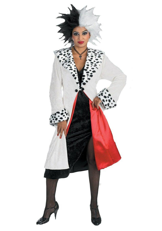 Cruella De Vil Kostüm ausgefallen Perücke