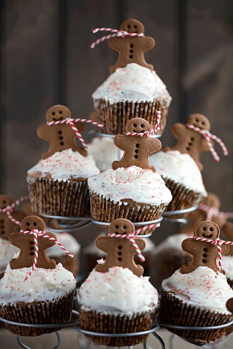 Weihnachts Cupcakes Lebkuchenmann Glasur