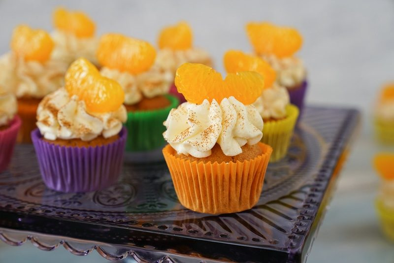 Weihnachts Cupcakes Mandarinen und Fanta