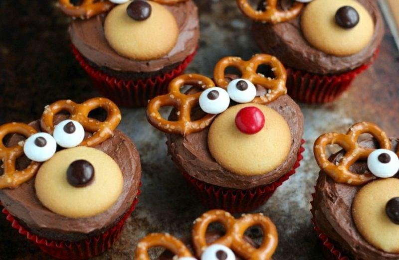 Weihnachts Cupcakes Rudolf Rezept