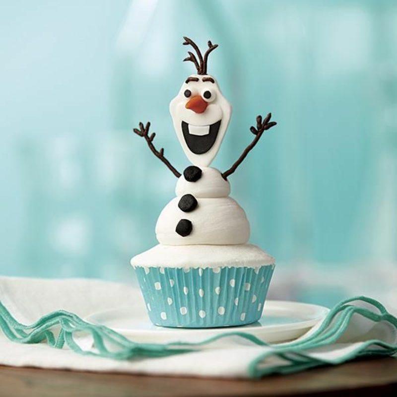 Weihnachts Cupcakes Schneemann Olaf