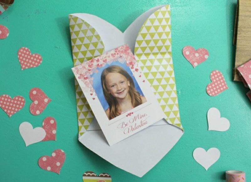 Briefumschlag falten Foto verpacken