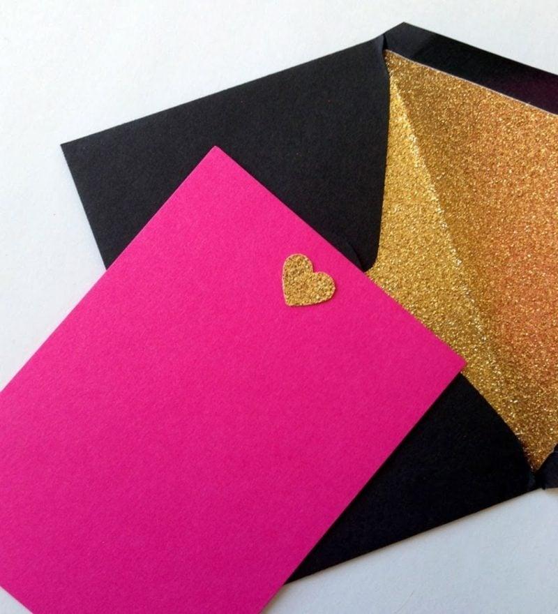Briefumschlag falten Glitzer golden