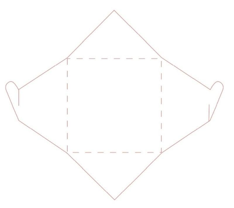 Briefumschlag falten mit Herzverschluss Vorlage