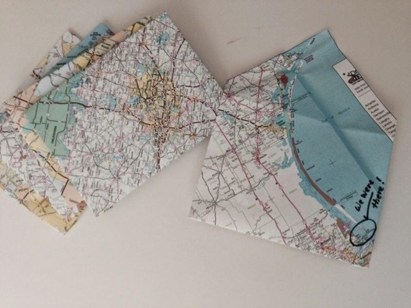 Briefumschlag falten aus Karte