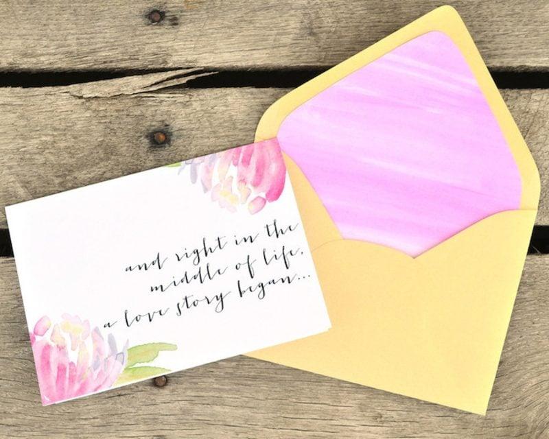 Briefumschlag falten für einen Liebesbrief