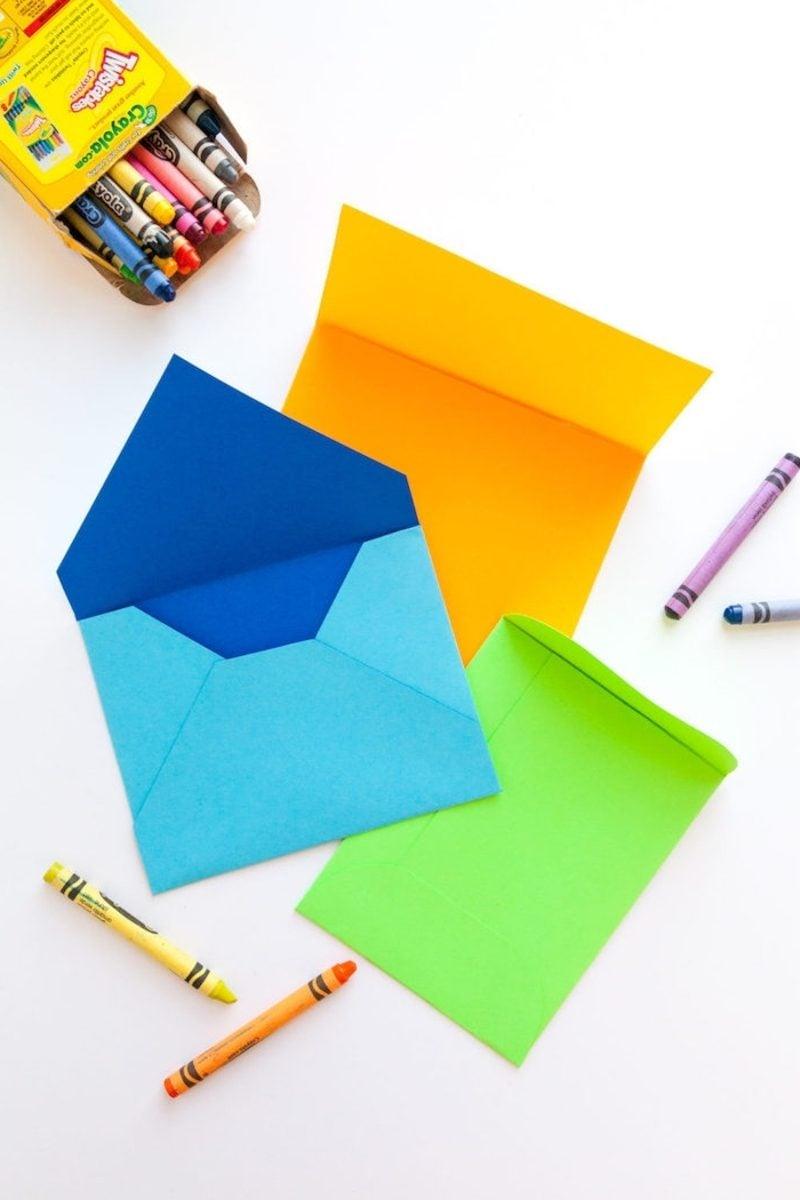 Briefumschlag falten aus farbigem Papier einfach