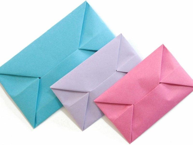 Briefumschlag falten aus Tonpapier einfach