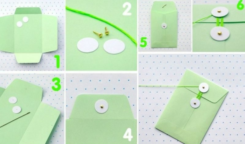 Briefumschlag falten Verschluss originell Anleitung