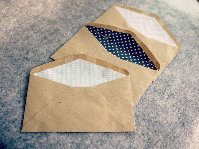 Briefumschlag falten tolle Muster drinnen