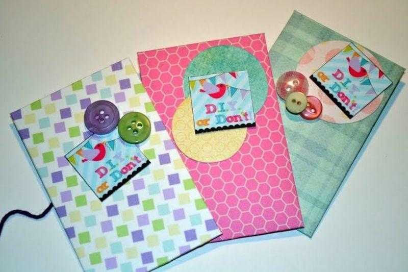 Briefumschlag falten und fantasievoll dekorieren