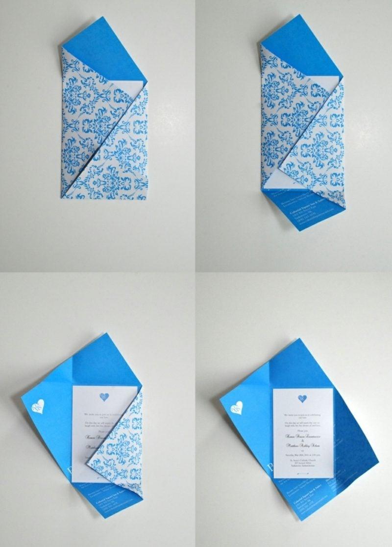 Briefumschlag falten rechteckig ganz leicht