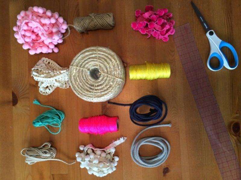 Teppich selber machen dekorativ notwendige Materialien