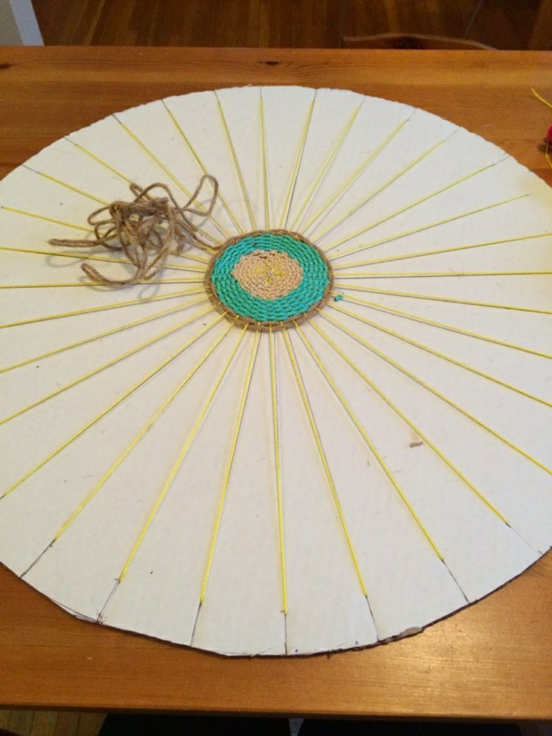 Teppich selber machen originell Kreisform