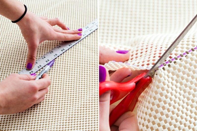 Teppich selber machen Matte schneiden