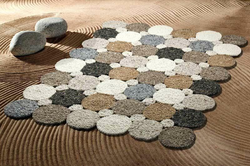 Teppich selber machen Kreise Patchwork