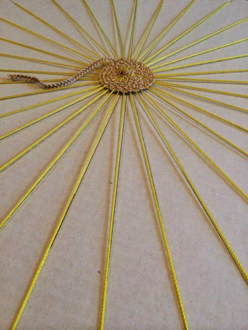 Teppich selber machen tolle Ideen Kreisform
