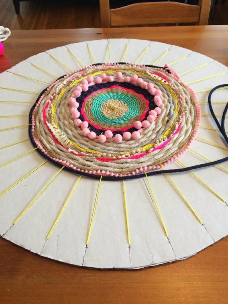Teppich selber machen Kreisform Bilderanleitung