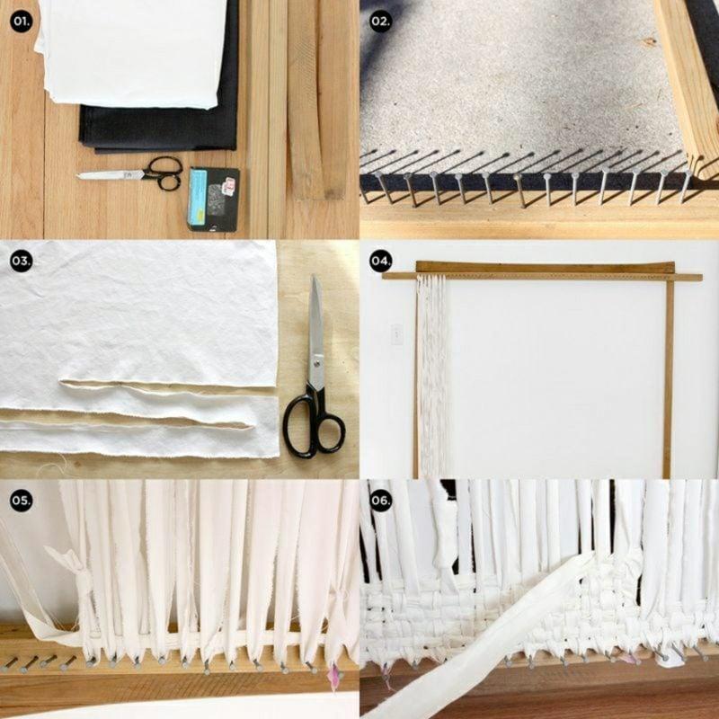 Teppich selber machen weben Bilderanleitung