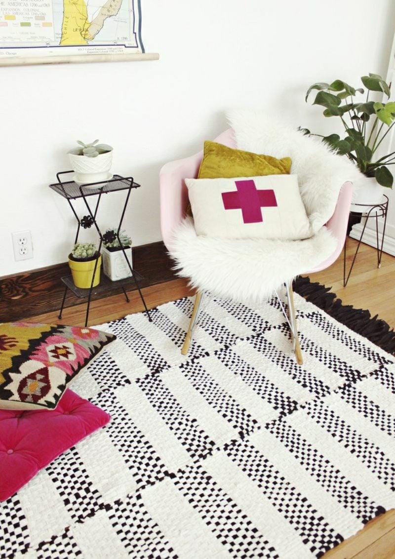 Teppich selber machen Wohnzimmer skandinavisch
