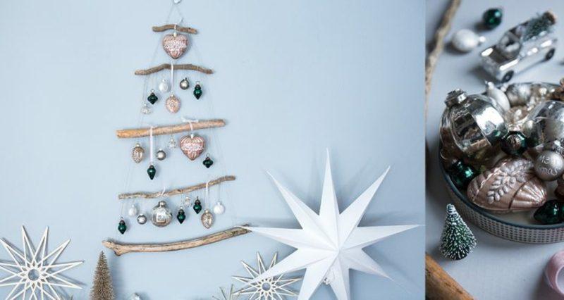 Weihnachtsbaum basteln Äste kreativ