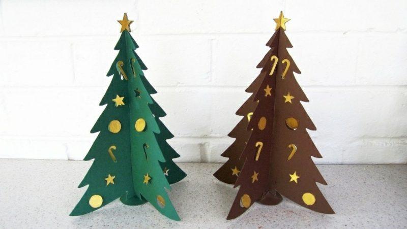 Weihnachtsbaum basteln Karton 3D