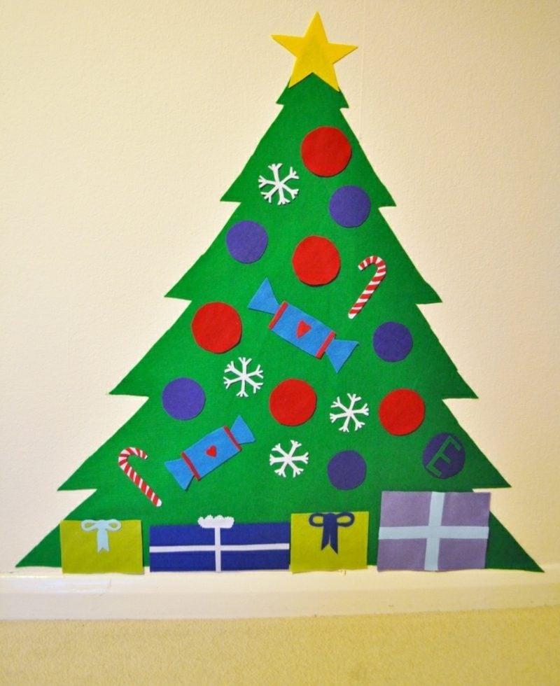 Weihnachtsbaum basteln einfache Ideen