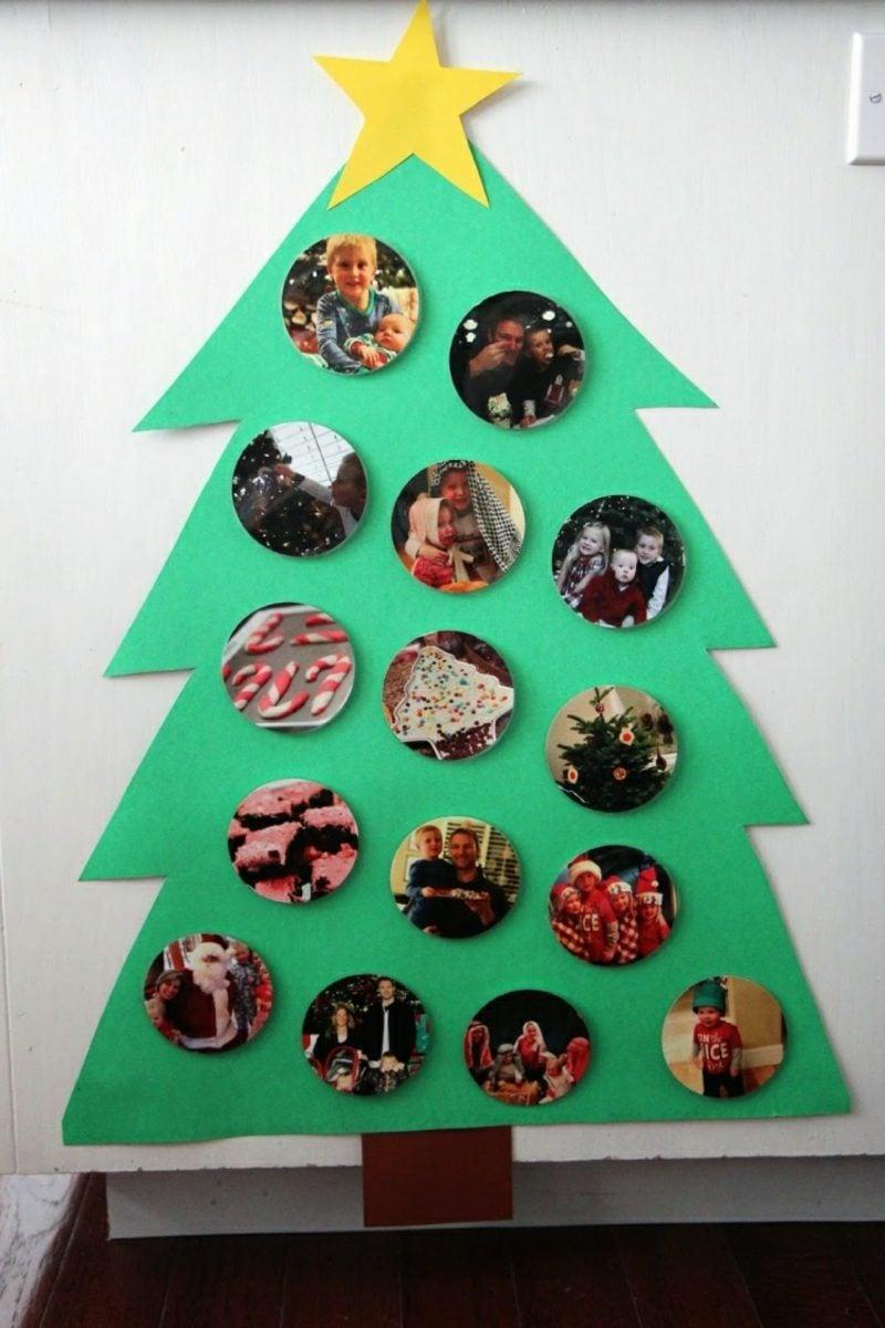Weihnachtsbaum basteln und mit Fotos dekorieren