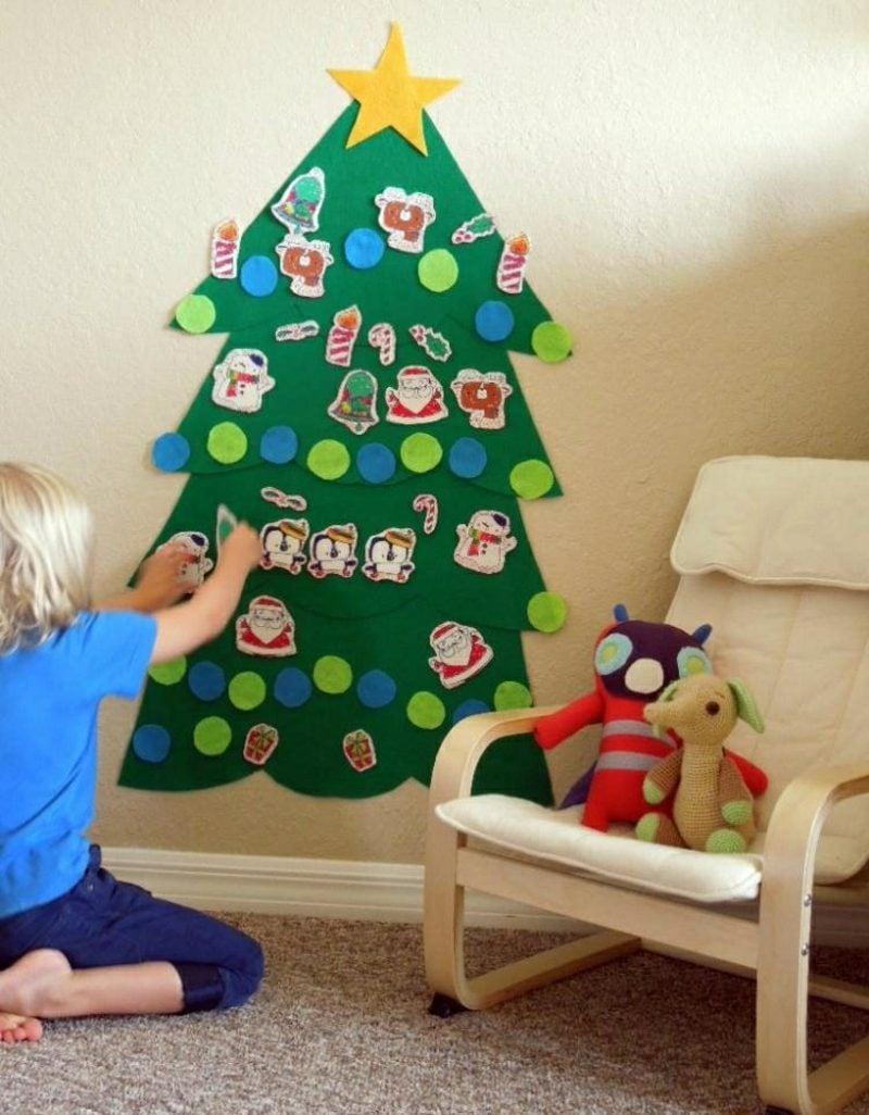 Weihnachtsbaum basteln umweltfreundlich Papier