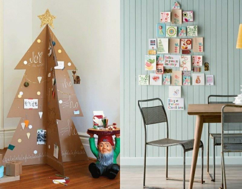 Weihnachtsbaum basteln Papier Karton