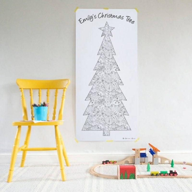 Weihnachtsbaum basteln Malvorlage