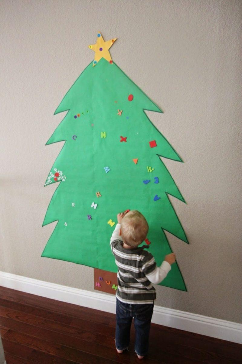 Weihnachtsbaum basteln aus Papier umweltfreundlich