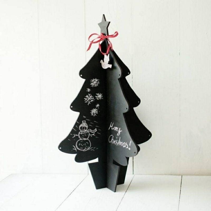 Weihnachtsbaum basteln Karton schwarz stilvoll