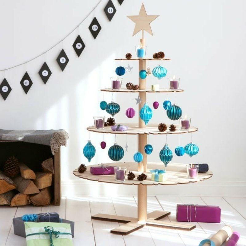 Weihnachtsbaum bastel umweltfreundliche Ideen