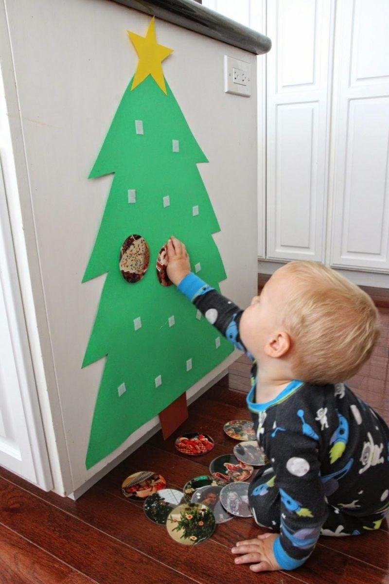 Weihnachtsbaum basteln und verzieren mit Kindern