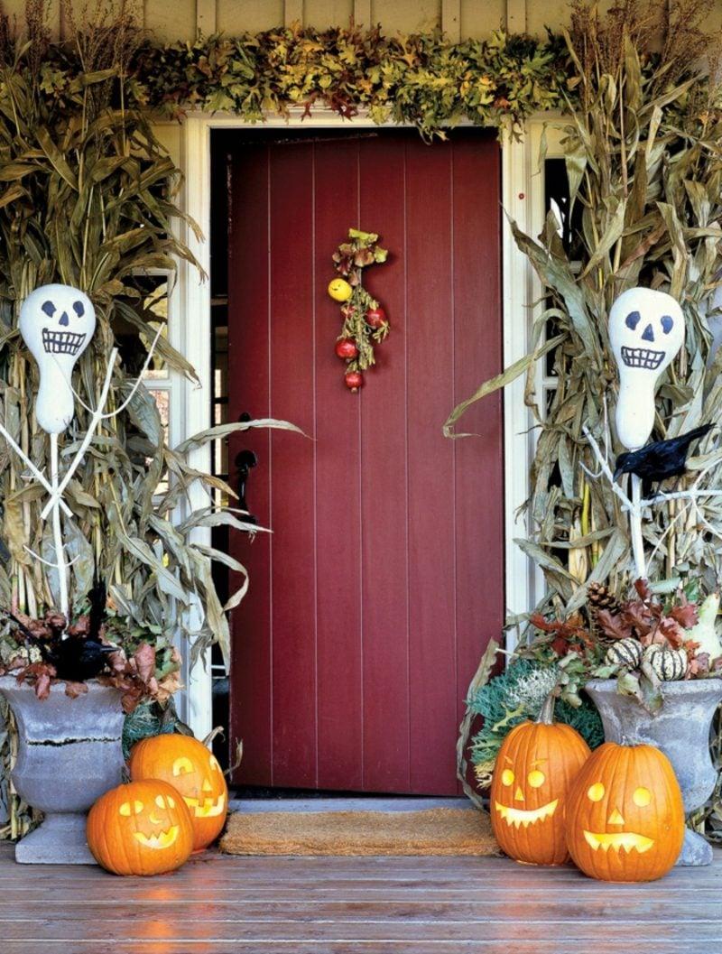 Halloween Deko selber machen für drauβen Eingangstür