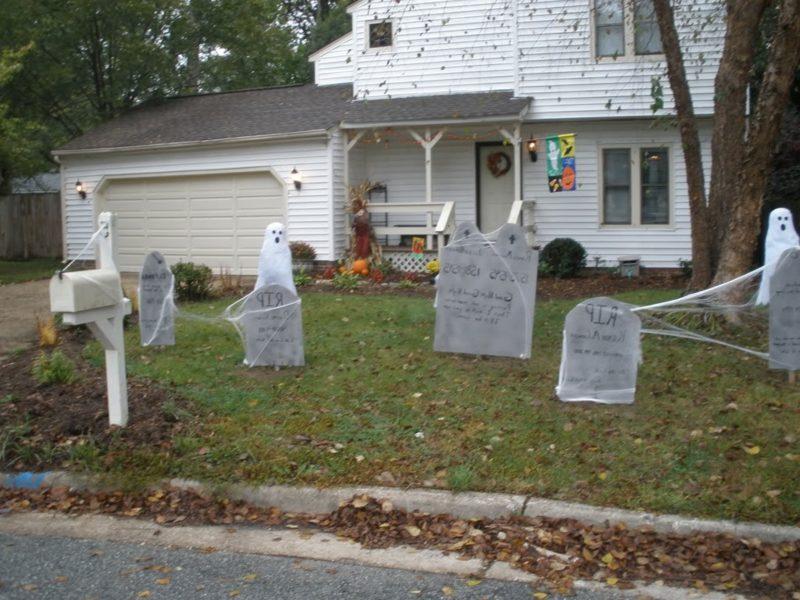Halloween Deko selber machen für drauβen Friedhof