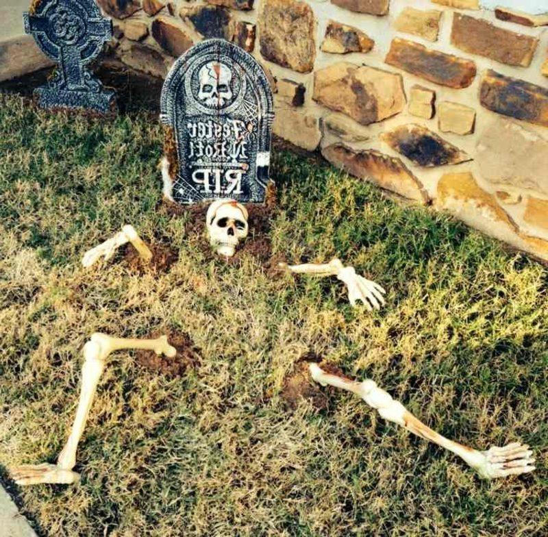 Halloween Deko selber machen für drauβen Grab