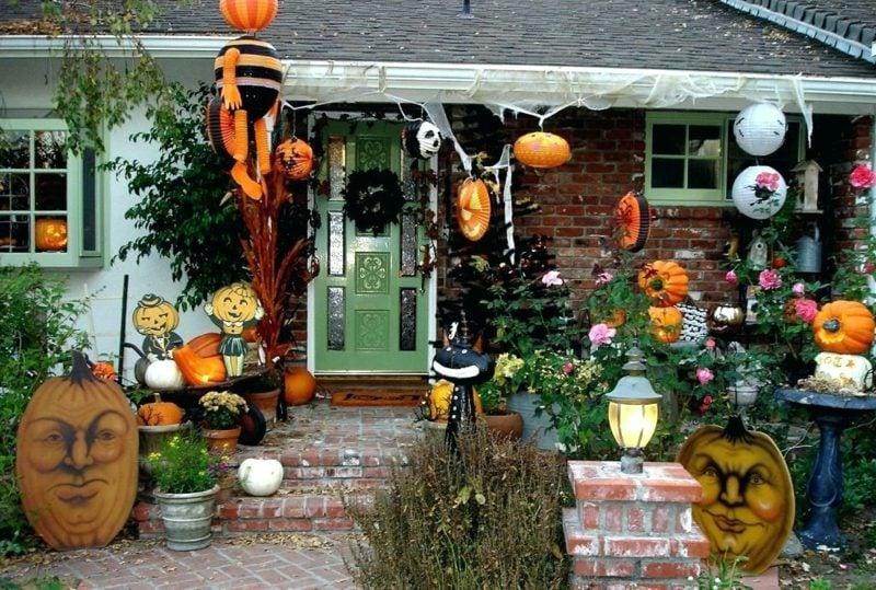 Halloween Deko selber machen für drauβen eindrucksvoll hauseingang