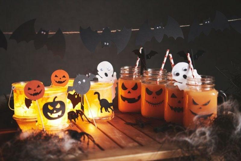 Halloween Deko selber machen für drauβen Terrasse